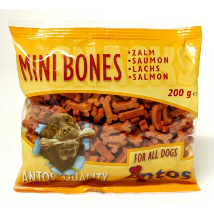 Antos Mini Bones Salmon Training Treat 200gm