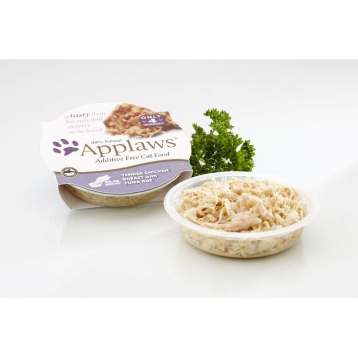 Applaws Adult Cat Food Chicken and Tuna 10x60gm pots