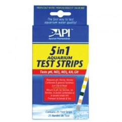 Api 5-in-1 Aquarium Test Strips 25pk
