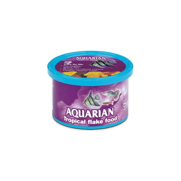 Aquarian Tropical Flaked Fish Food 13g