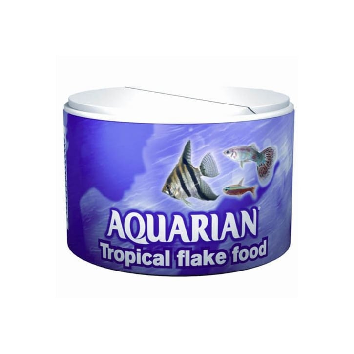 Aquarian Tropical Flaked Fish Food 200g