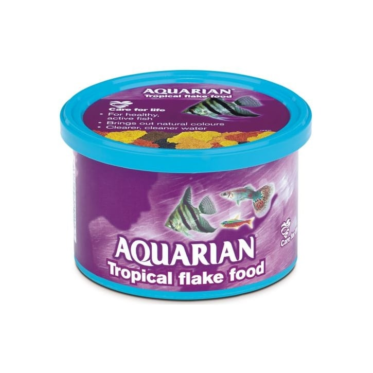Aquarian Tropical Flaked Fish Food 50g