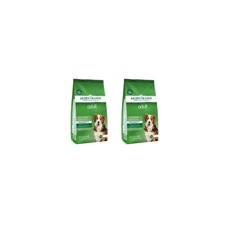 Arden Grange Adult Complete Dog Food Rich In Fresh Lamb & Rice 2 x 12kg Twin Offer