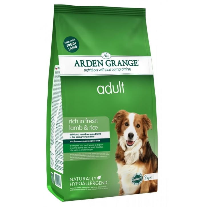 Arden Grange Adult Complete Dog Food Rich in Fresh Lamb & Rice 2kg