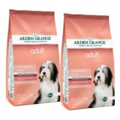 Arden Grange Adult Complete Dog Food Rich in Salmon & Rice 2 x 12kg Twin Offer