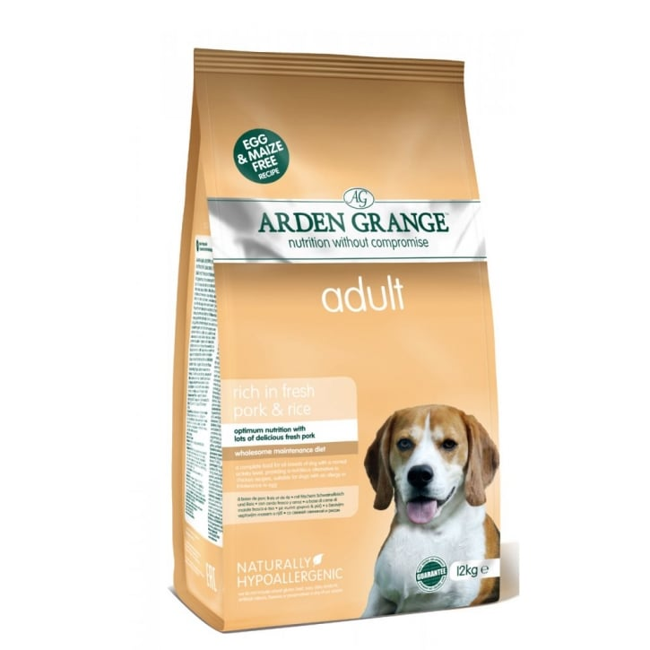 Arden Grange Adult Dog Food Pork & Rice 12kg