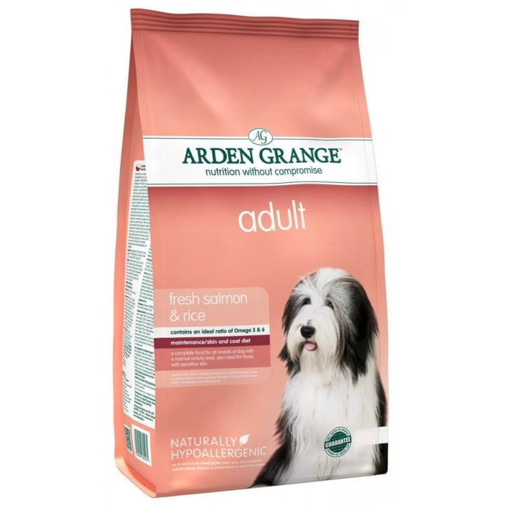 Arden Grange Adult Dog Food Rich in Salmon & Rice 12kg
