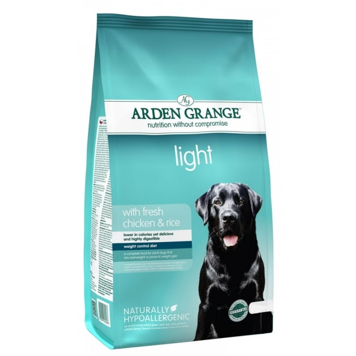Arden Grange Adult Light Complete Dog Food With Fresh Chicken & Rice 12kg