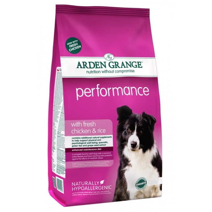 Arden Grange Performance Adult Complete Dog Food Rich In Chicken & Rice 12kg