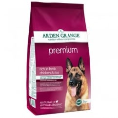 Premium Adult Dog Food Chicken & Rice 2kg