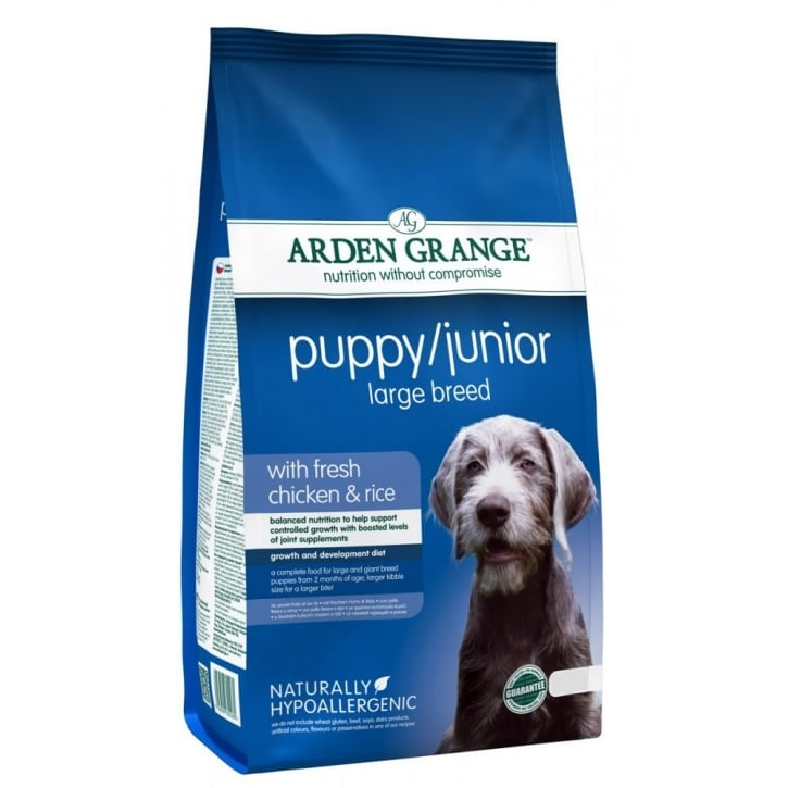 Arden Grange Puppy/Junior Large Breed Dog Food Chicken & Rice 12kg