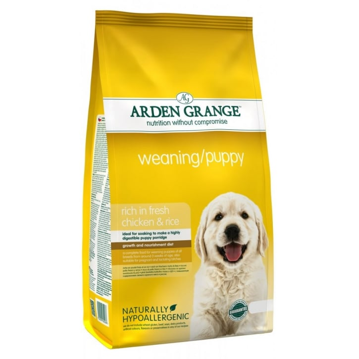 Arden Grange Weaning/Puppy Complete Dog Food Rich in Fresh Chicken & Rice 6kg