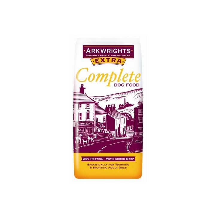 Arkwrights extra complete adult dog food 15kg feedem for Cuisines completes