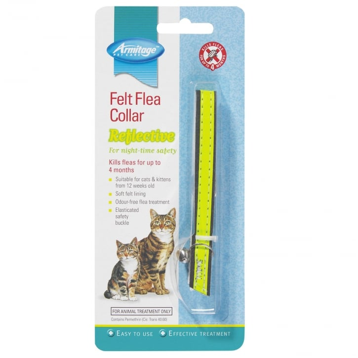 Armitage Felt Flea Reflective Cat Collar