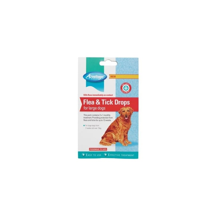Armitage Flea And Tick Drops For Large Dogs