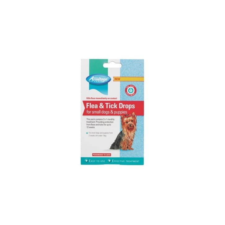 Armitage Flea And Tick Drops For Small Dogs & Puppies 12 Weeks Protection