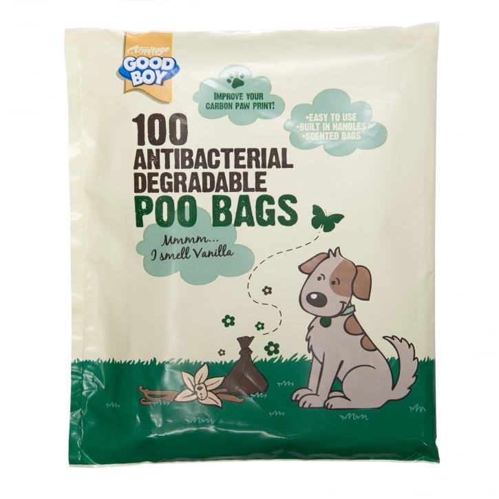 Armitage Goodboy Antibacterial Degradable Poo Bags Pack 100