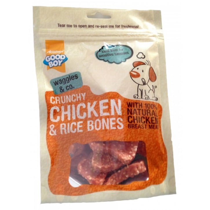 Armitage Goodboy Deli Treats Chicken Fillet with Rice Bones Dog Treats 100gm
