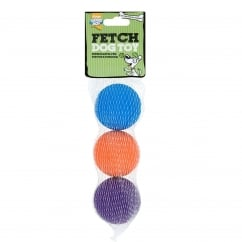 Goodboy Fetch Sponge Balls Dog Toy 3 Pack