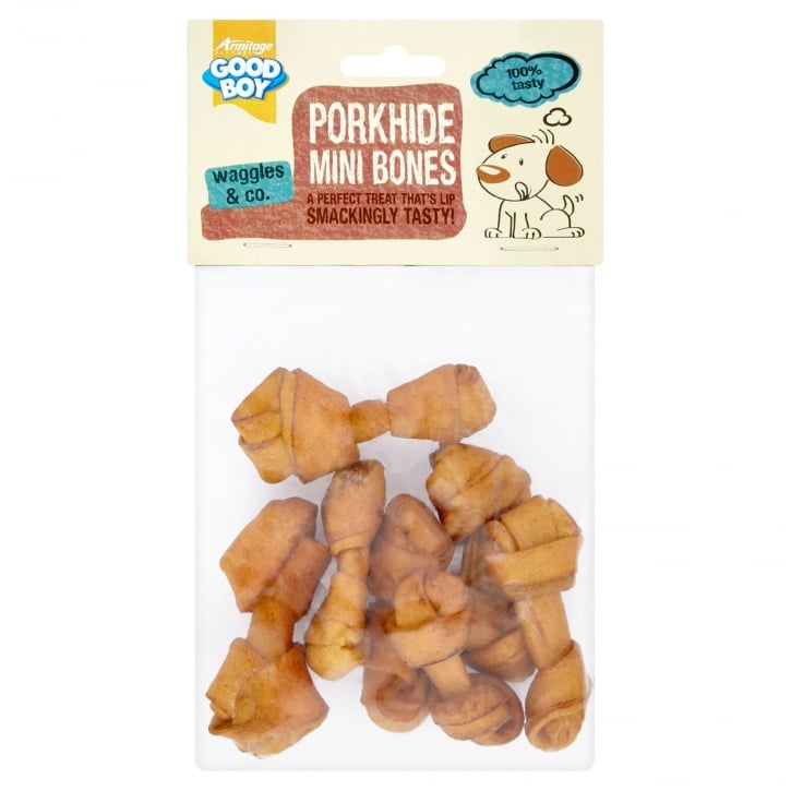 Armitage Goodboy Mini Pork Rawhide Bones Puppy Dog Chews Pack 7