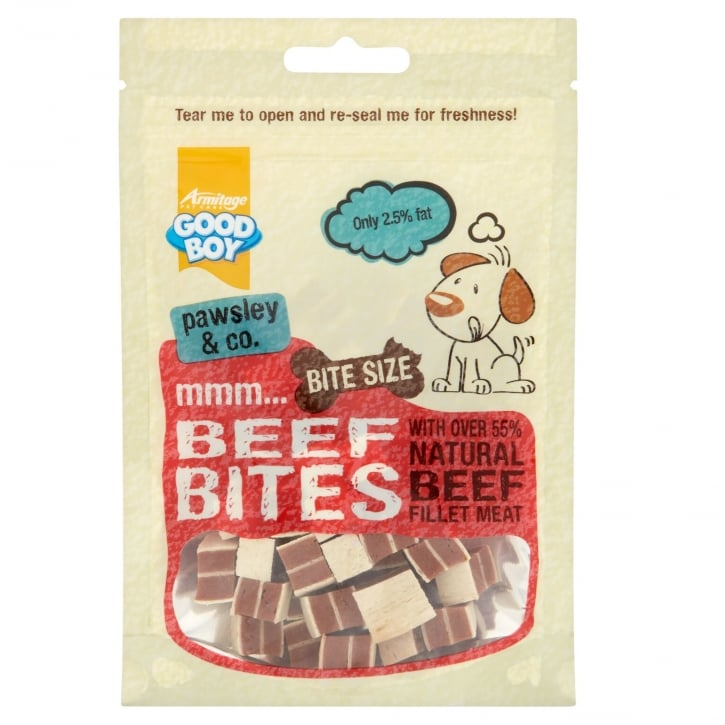 Armitage Goodboy Pawsley & Co Beef Bites Dog Treats 65g
