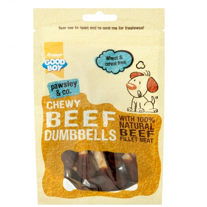 Armitage Goodboy Pawsley & Co Chewy Beef Dumbells with Beef Fillet Meat 100g
