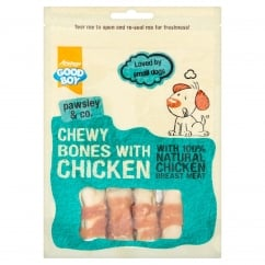 Goodboy Pawsley & Co Chewy Bones With Chicken Dog Treats 80g