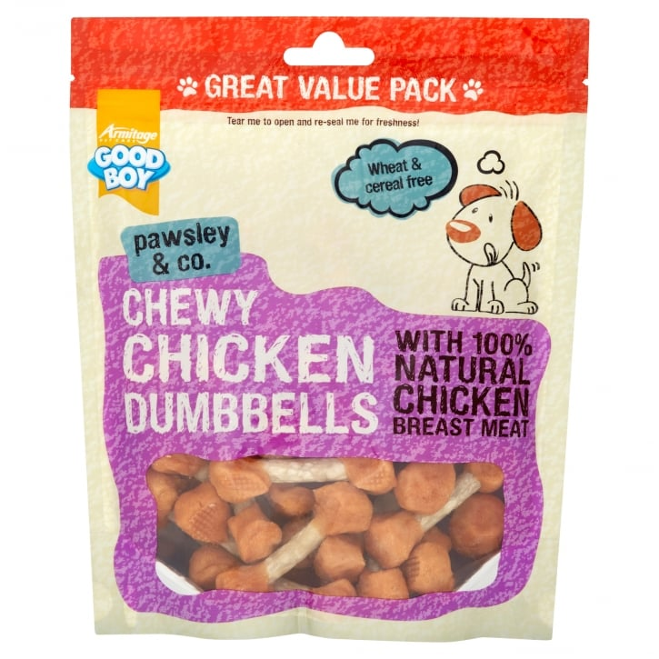 Armitage Goodboy Pawsley & Co Chewy Chicken Dumbells with Chicken Breast Meat 350g