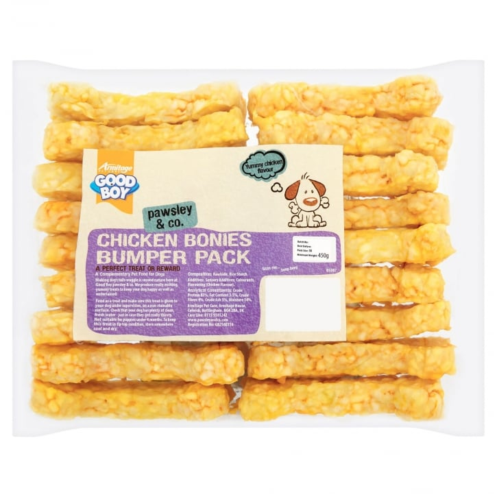 Armitage Goodboy Pawsley & Co Chicken Bonies Chews Dog Treat 450g