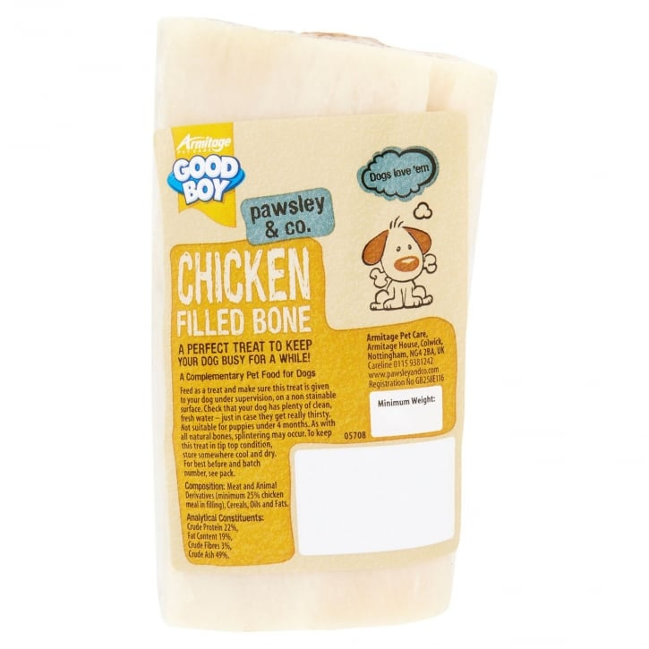 Armitage Goodboy Pawsley & Co Chicken Filled Bone Dog Treat 150g