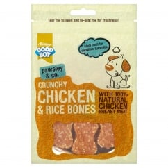 Goodboy Pawsley & Co Crunchy Chicken and Rice Bones Dog Treats 100g
