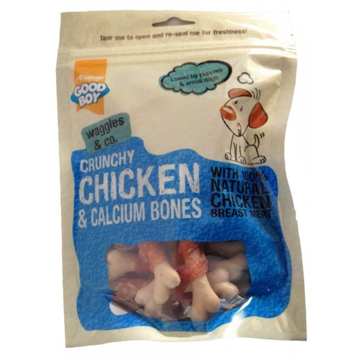 Armitage Goodboy Pawsley & Co Crunchy Chicken & Calcium Bones Dog Treats 100g