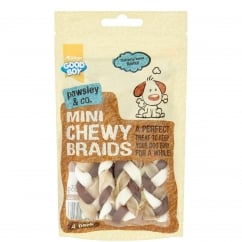 Goodboy Pawsley & Co Mini Chewy Braids Dog Treat 55g