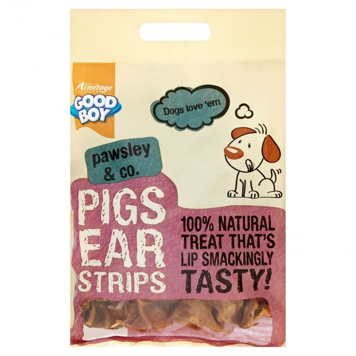 Armitage Goodboy Pawsley & Co Pigs Ears Strips Dog Treat 500g