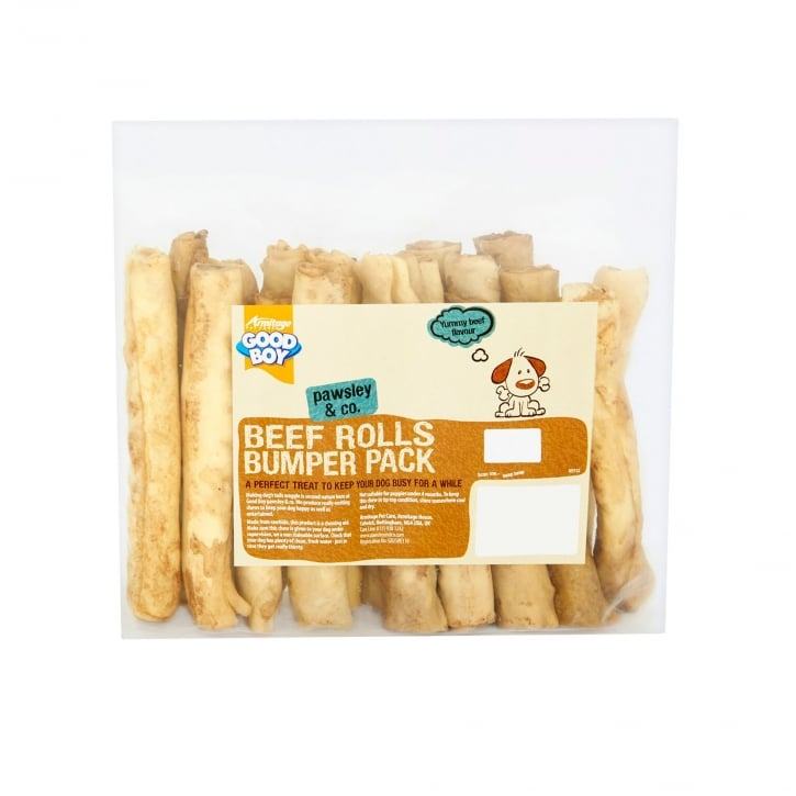 Armitage Goodboy Pawsley & Co Rawhide Beef Rolls Bumper Pack Dog Treats 340g
