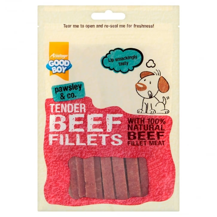 Armitage Goodboy Pawsley & Co Tender Beef Fillets Dog Treats 90g