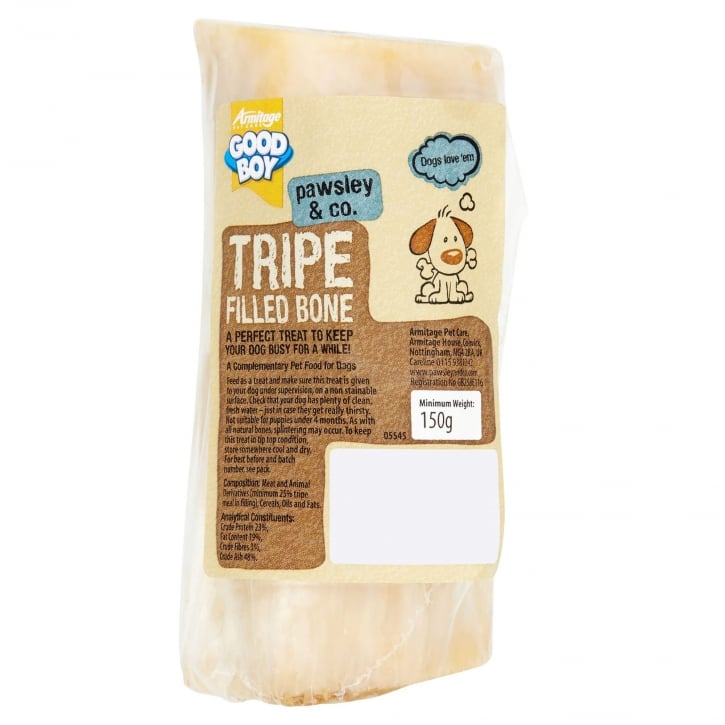 Armitage Goodboy Pawsley & Co Tripe Filled Sterilised Bone Dog Treat 150g