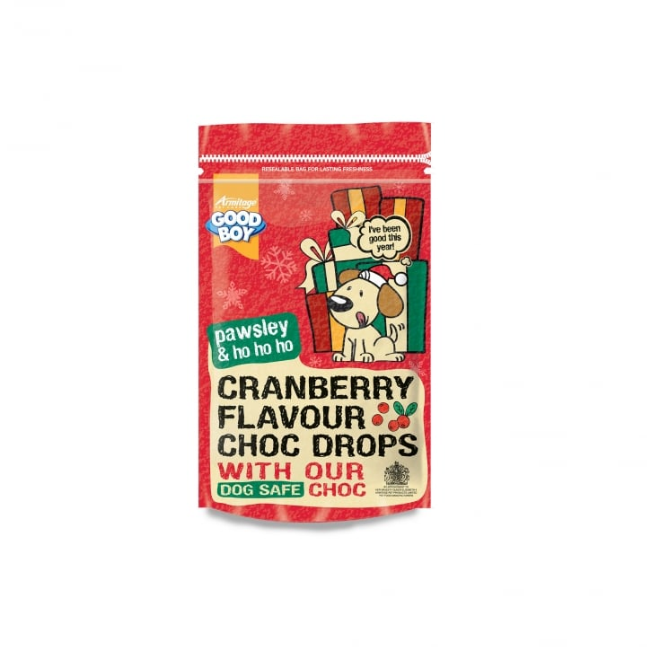 Armitage Goodboy Pawsley & Ho Cranberry Flavour Choc Drops for Dogs 200g