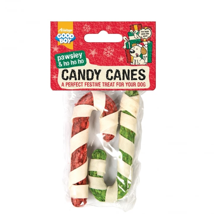 Armitage Goodboy Pawsley & Ho Festive Candy Canes Chews for Dogs Pack 2