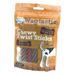 Armitage Goodboy Wagtastic Chewy Twist Sticks Dog Treat 90g