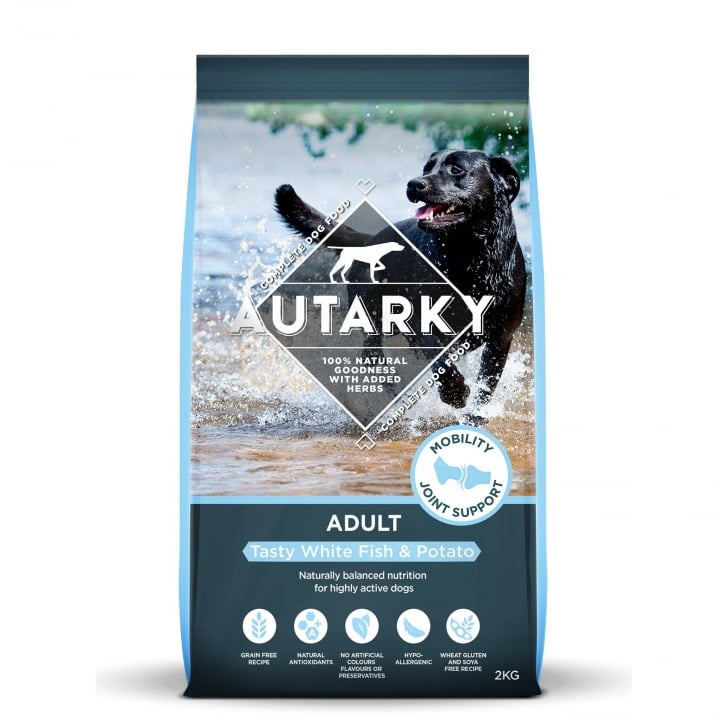 Autarky Adult Tasty White Fish & Potato Dog Food 2kg