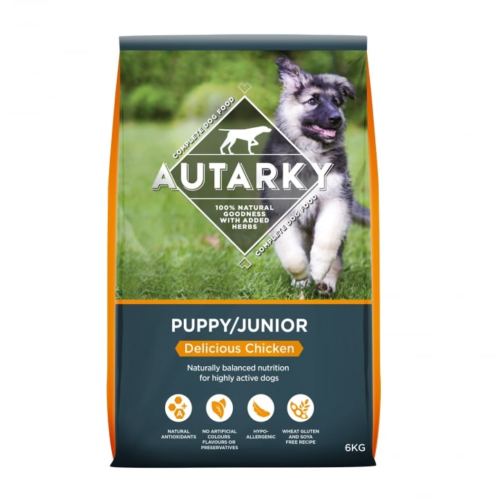 Autarky Puppy/Junior Delicious Chicken Dog Food 6kg