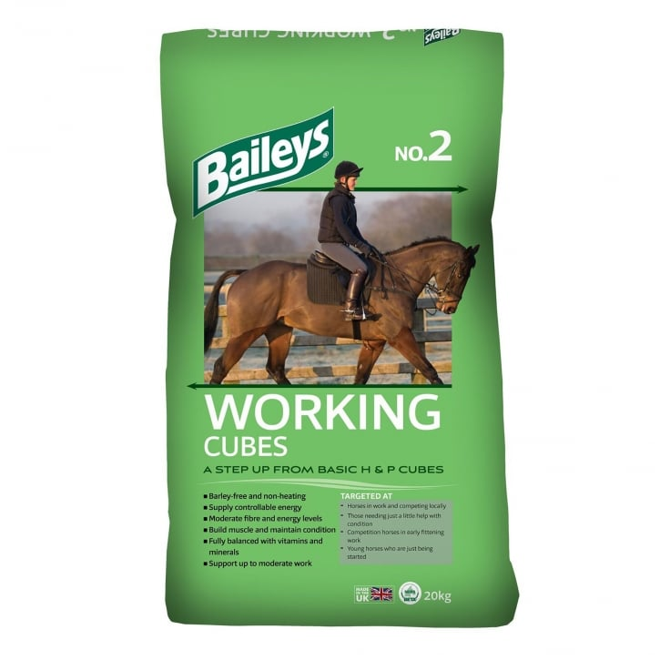 Baileys No. 2 Working Cubes Horse Feed 20kg