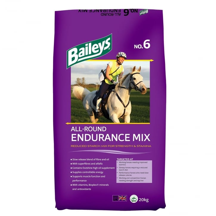 Baileys No. 6 All-Round Endurance Mix Horse Feed 20kg