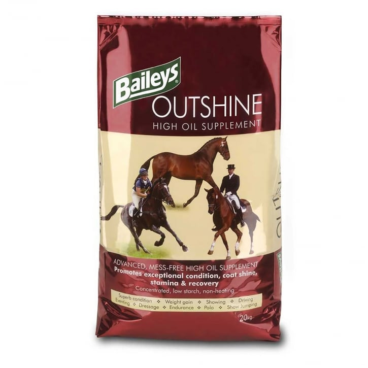 Baileys Outshine High Oil Supplement Horse Feed 20kg