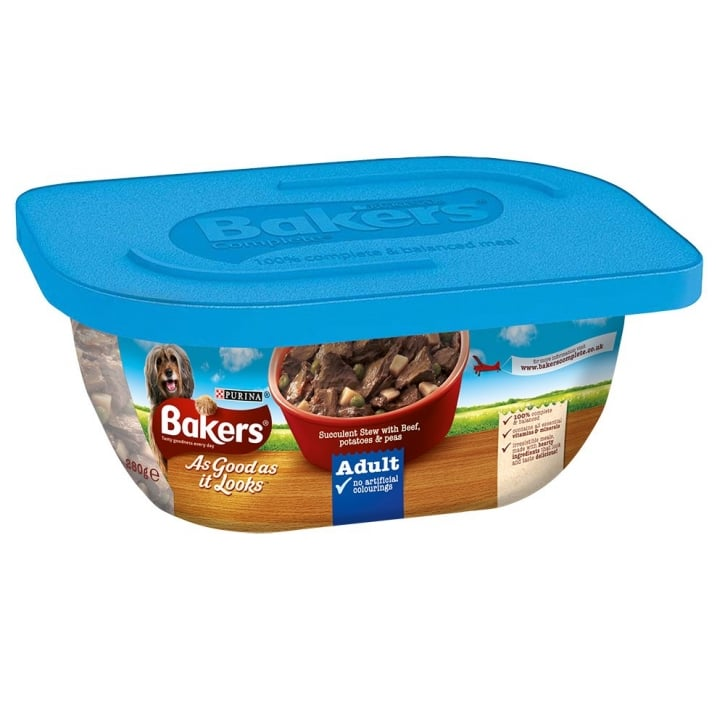 Bakers As Good As It Looks Adult Succulent Stew with Beef, Potatoes & Peas 6 x 280g