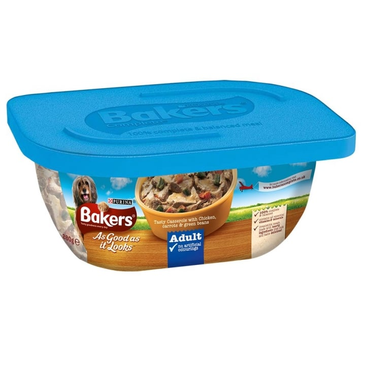 Bakers As Good As It Looks Adult Tasty Casserole with Chicken, Carrots & Green Beans 6 x 280g