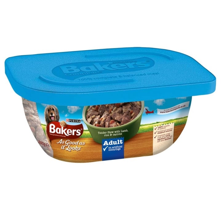 Bakers As Good As It Looks Adult Tender Stew with Lamb, Rice & Carrots 6 x 280g