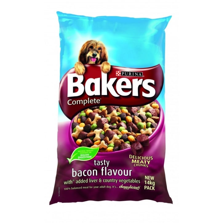 Bakers Bacon With Liver & Country Vegetables Adult Dog Food 14kg