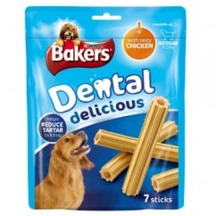 Dental Delicious Medium Dog Treat Chicken 7 sticks